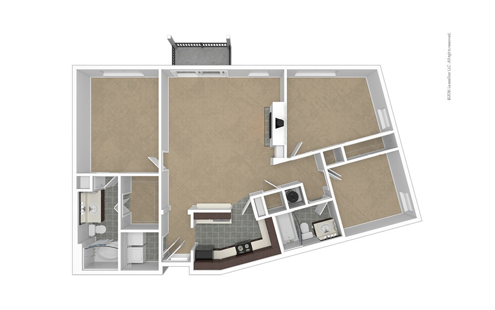 Pinnacle 2 bedroom 2 bath 1235 square feet (1)