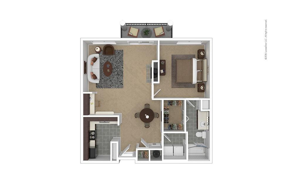 Plateau 1 bedroom 1 bath 881 square feet