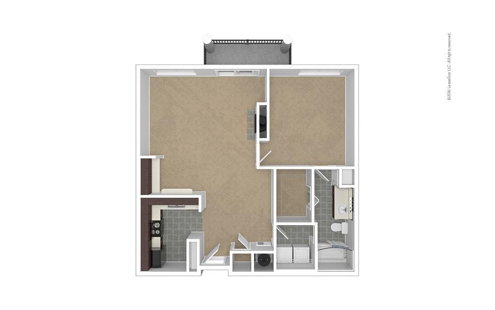 Plateau 1 bedroom 1 bath 881 square feet (1)