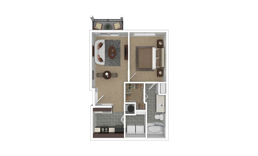 Prominence 1 bedroom 1 bath 596 square feet