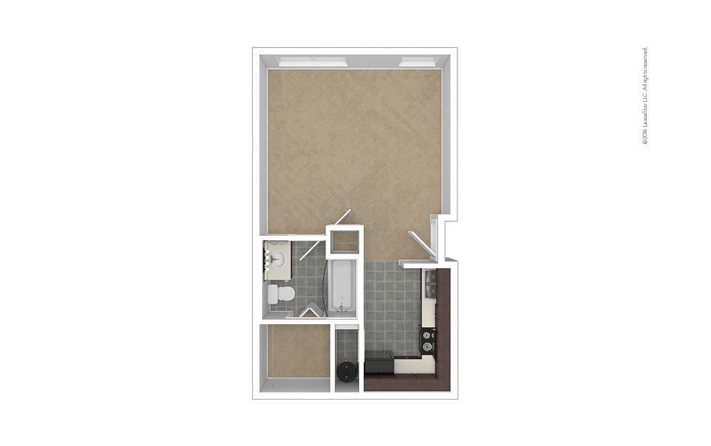 Stature Studio 1 bath 475 square feet (1)