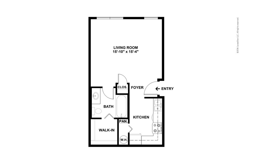 Stature Studio 1 bath 475 square feet (2)