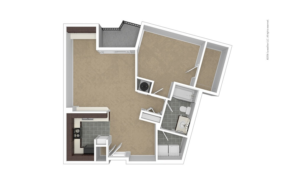 Vertex 1 bedroom 1 bath 779 square feet (1)