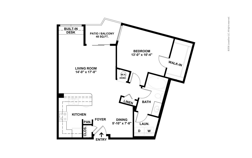 Vertex 1 bedroom 1 bath 779 square feet (2)