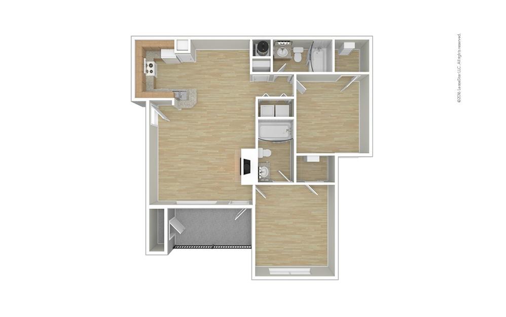 Belgian 2 bedroom 2 bath 993 square feet (1)