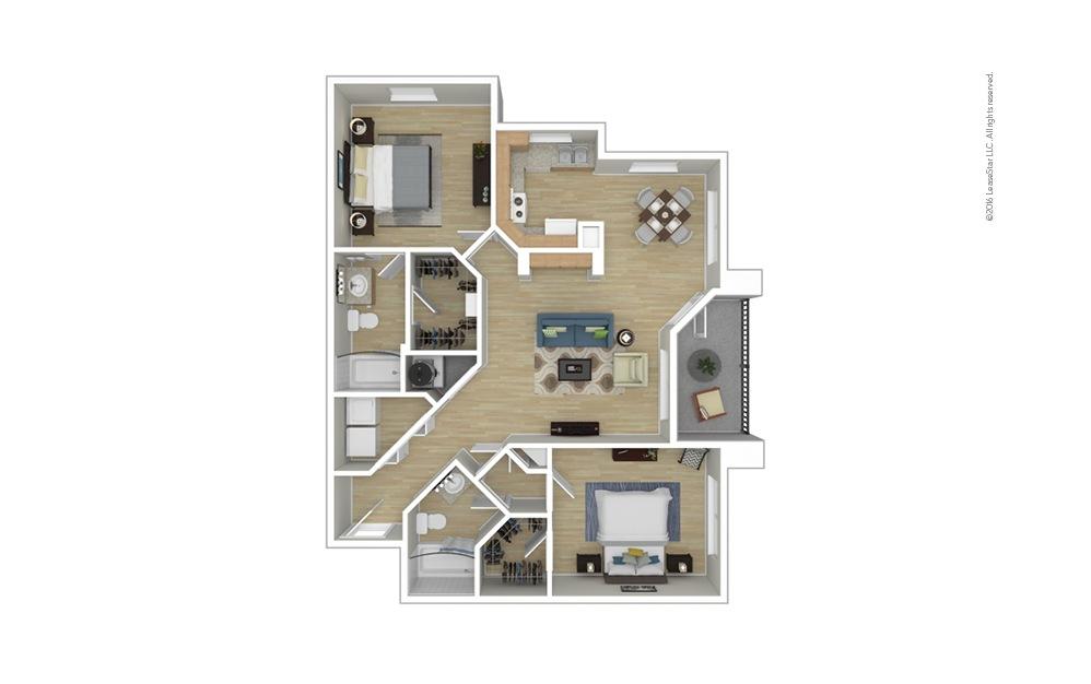 Morgan 2 bedroom 2 bath 1091 square feet