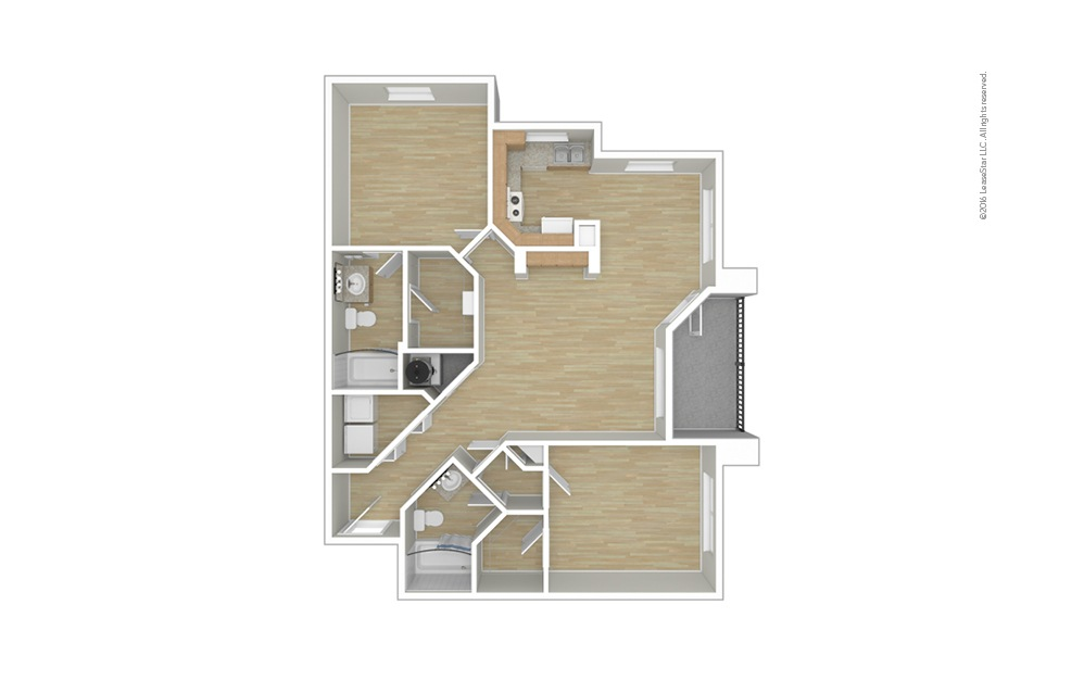 Morgan 2 bedroom 2 bath 1091 square feet (1)