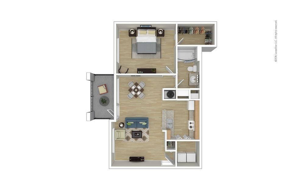 Shetland 1 bedroom 1 bath 753 square feet