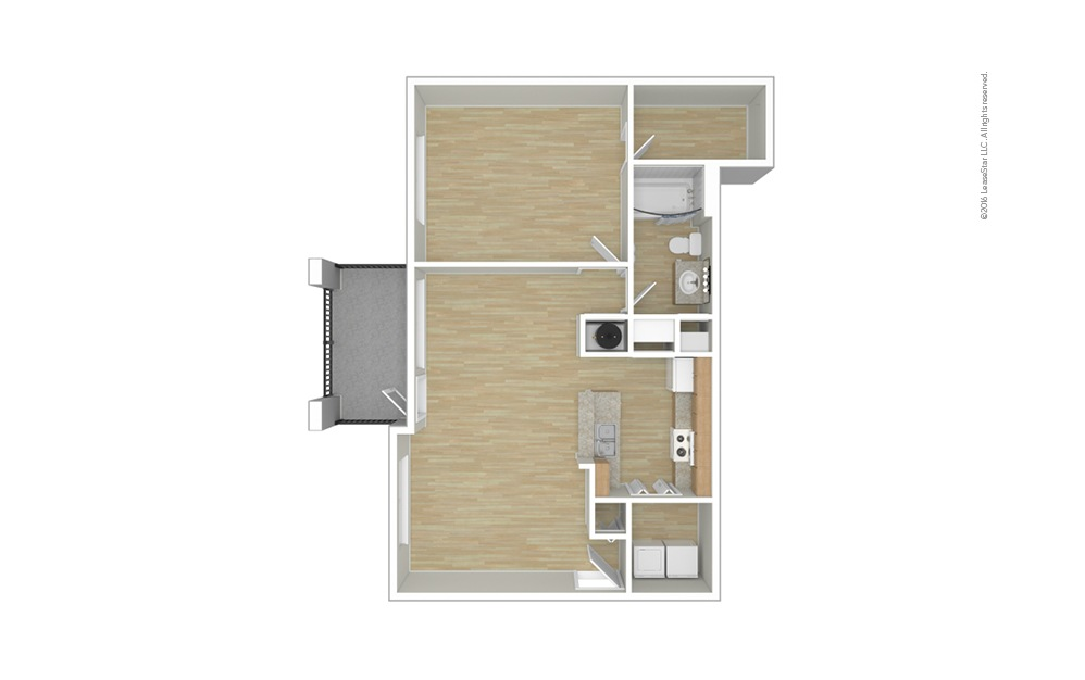 Shetland 1 bedroom 1 bath 753 square feet (1)