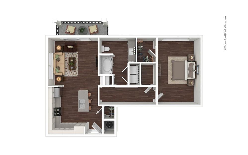 Cove North 1 bedroom 1 bath 855 square feet