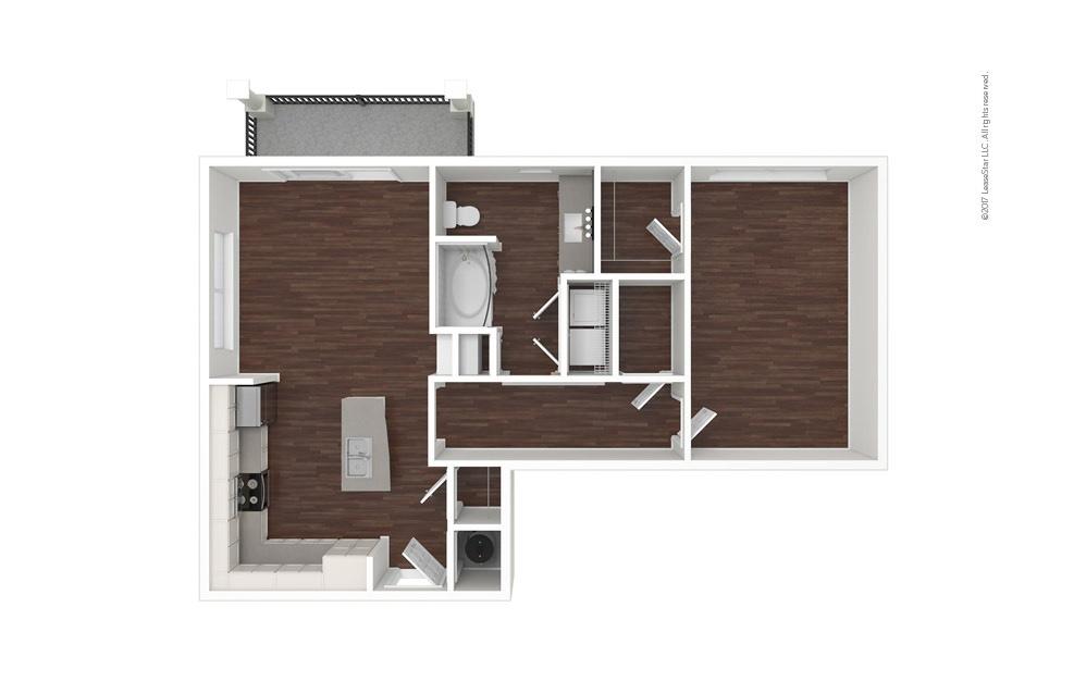 Cove North 1 bedroom 1 bath 855 square feet (1)