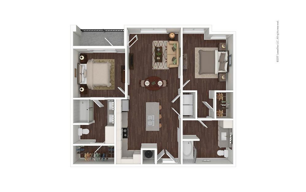 Dune North 2 bedroom 2 bath 992 square feet