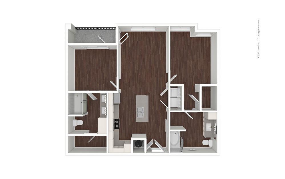 Dune North 2 bedroom 2 bath 992 square feet (1)