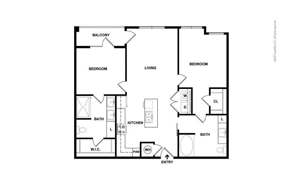 Dune North 2 bedroom 2 bath 992 square feet (2)