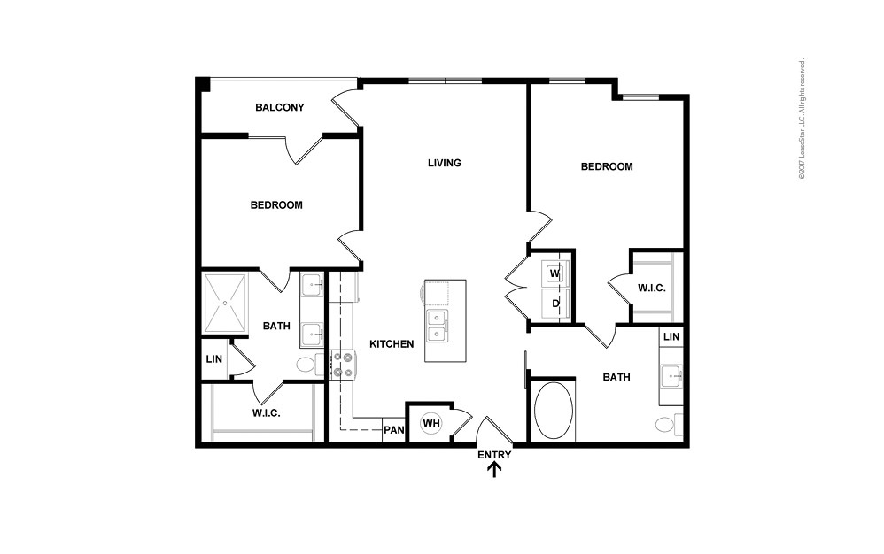 Estuary North 2 bedroom 2 bath 992 square feet (2)