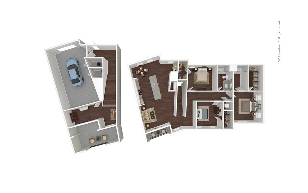 Tide North 3 bedroom 2 bath 2272 square feet