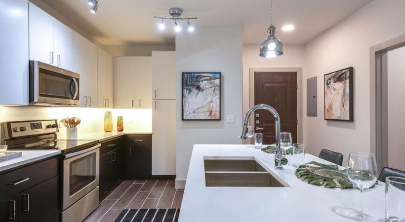 Modern Cabinetry with Designer Hardware