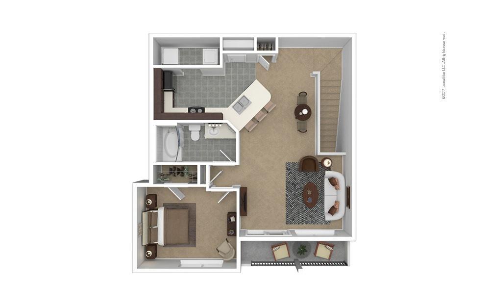 A4 Garage Option 1 bedroom 1 bath 861 square feet