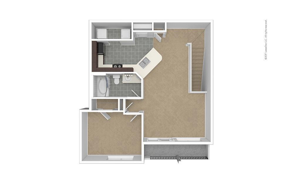 A4 Garage Option 1 bedroom 1 bath 861 square feet (1)