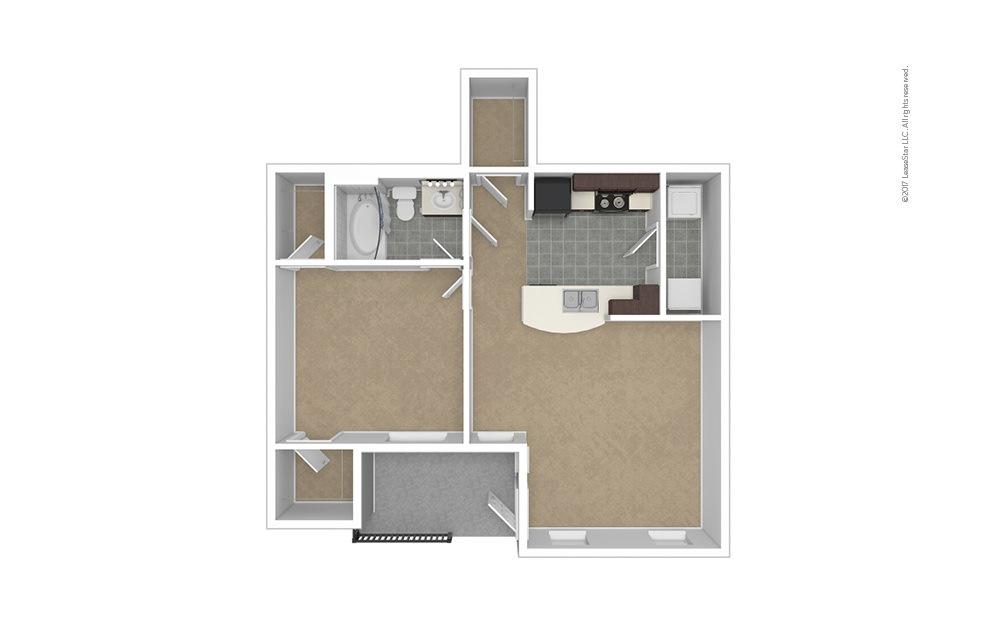 A1 Garage Option 1 bedroom 1 bath 724 square feet (1)