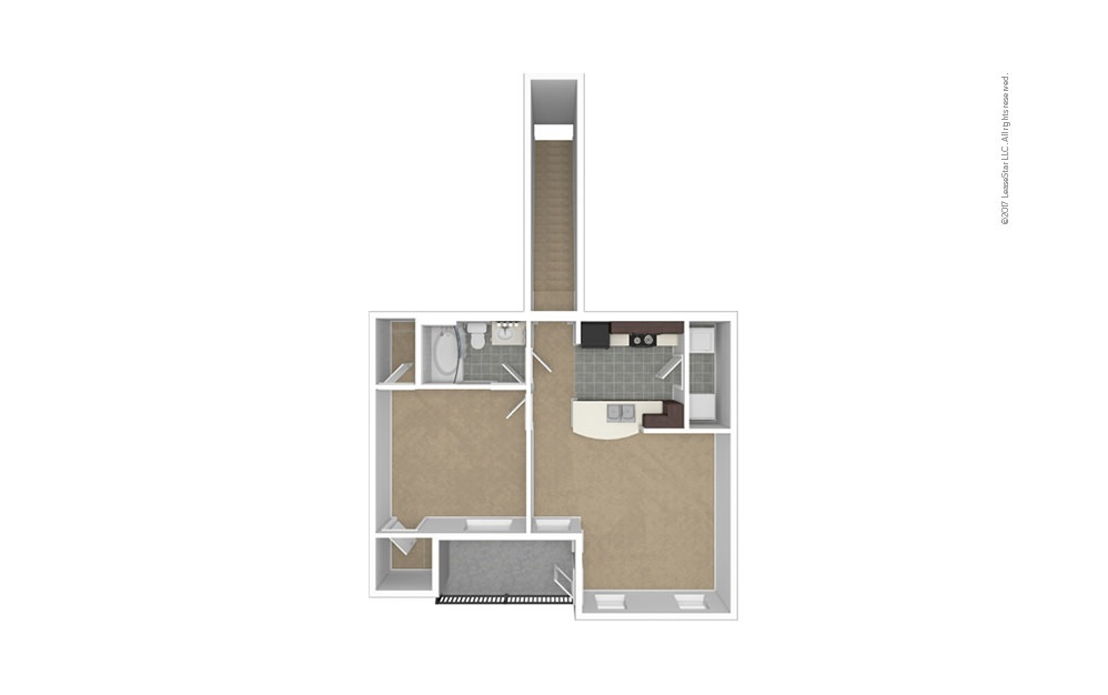 A3 Garage Option 1 bedroom 1 bath 806 square feet (1)