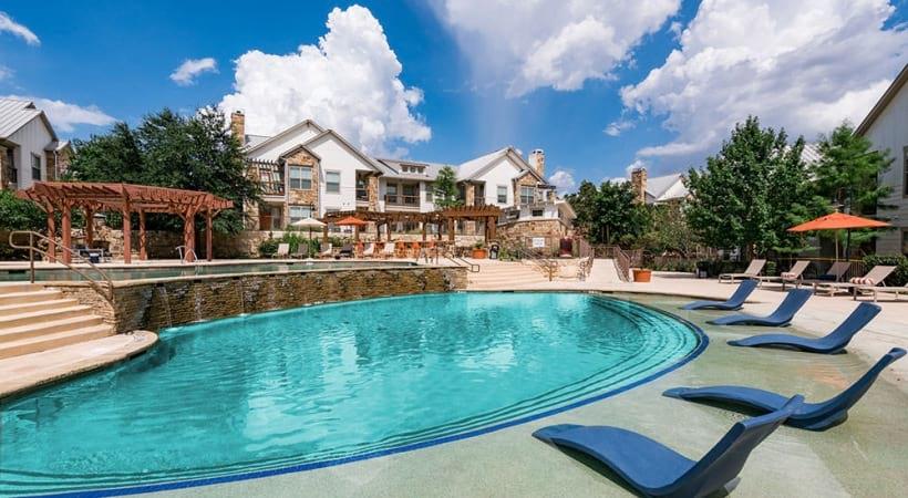 Resort-style pool at our luxury apartments in Northwest San Antonio