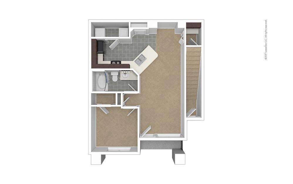 A2 1 bedroom 1 bath 772 square feet (1)