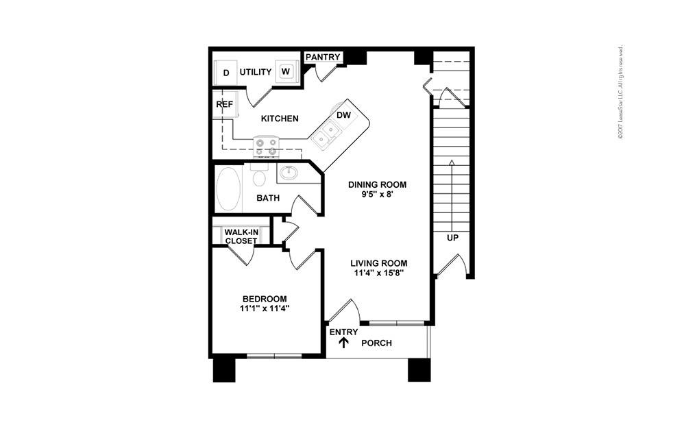 A2 1 bedroom 1 bath 772 square feet (2)