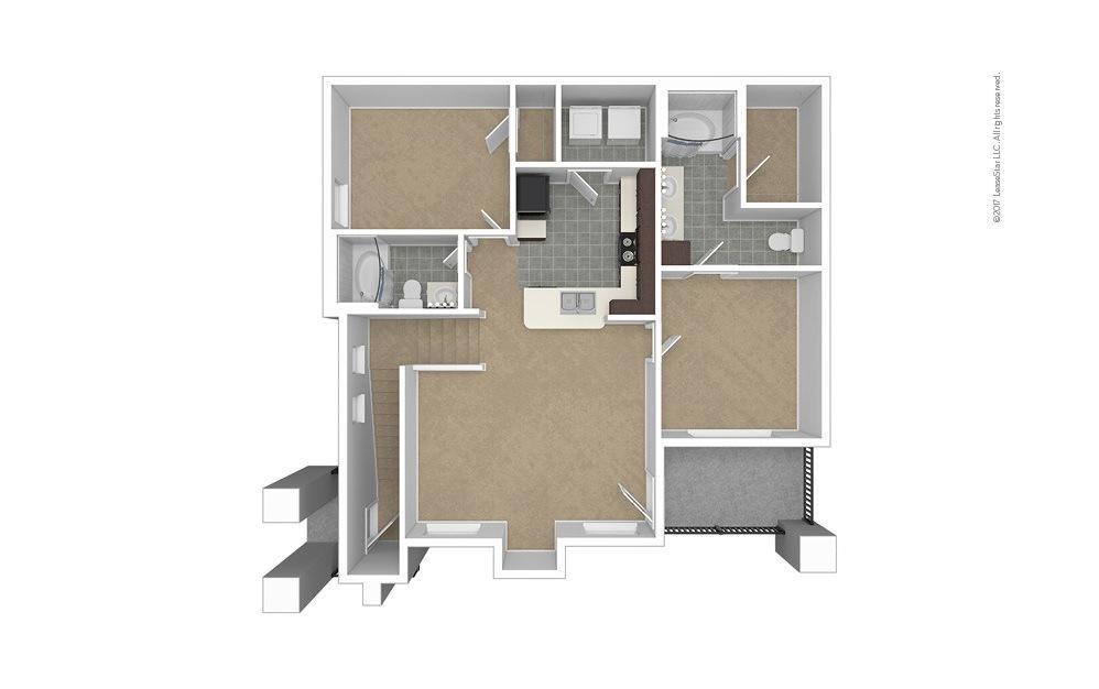B1 2 bedroom 2 bath 982 square feet (1)