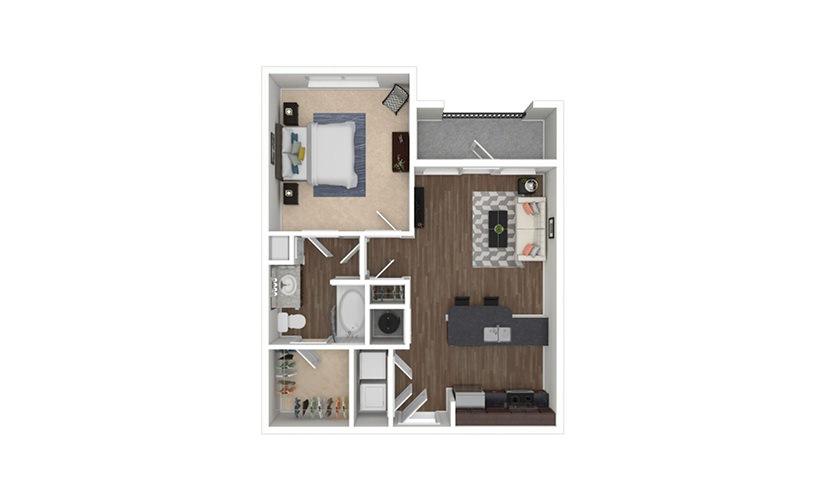 Hartwell 1 bedroom 1 bath 661 square feet