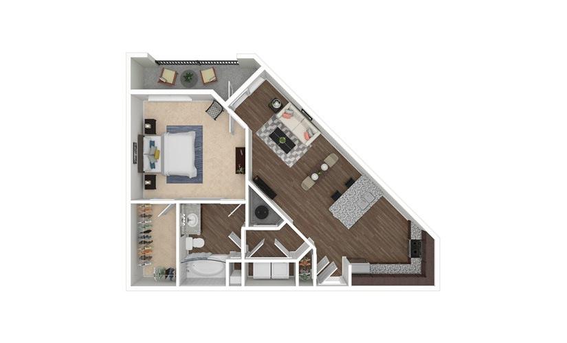 High Rock 1 bedroom 1 bath 815 square feet