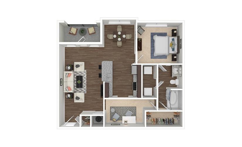 Jordan 1 bedroom 1 bath 984 square feet