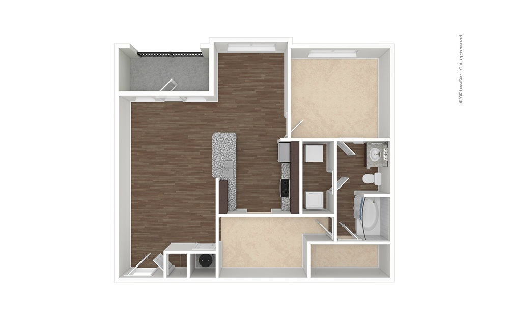 Jordan 1 bedroom 1 bath 984 square feet (1)