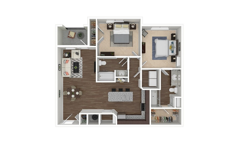 Mountain Island 2 bedroom 2 bath 1121 square feet