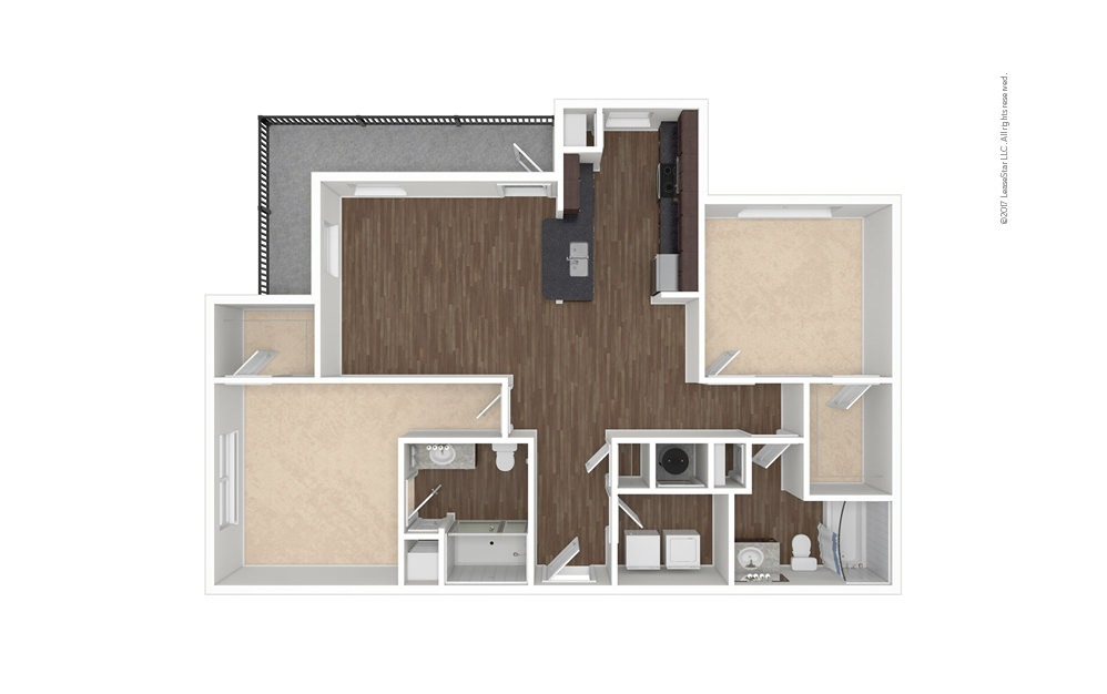 Murray 2 bedroom 2 bath 1215 square feet (1)