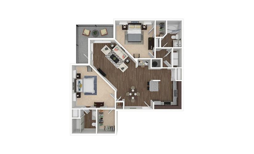 Norman 2 bedroom 2 bath 1279 square feet