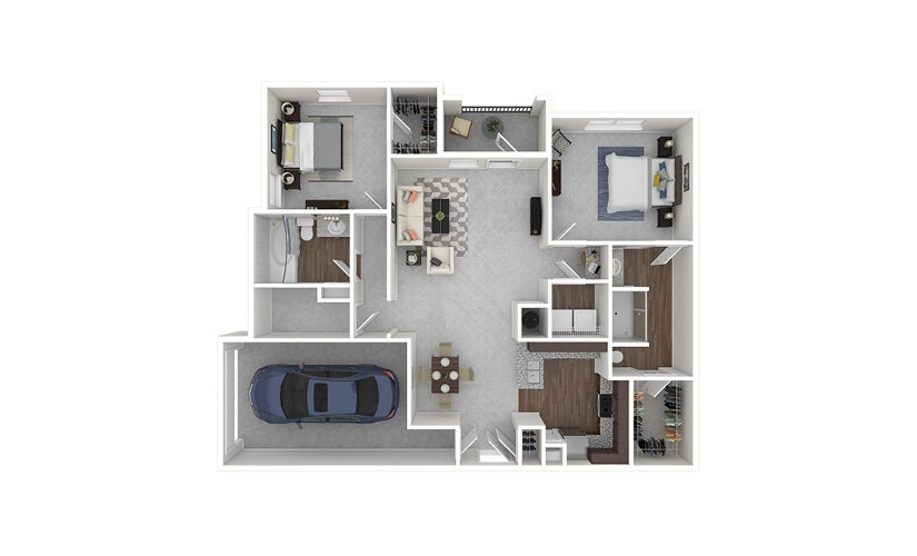 B2 2 bedroom 2 bath 1324 square feet