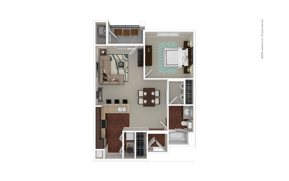 The Babson 1 bedroom 1 bath 793 square feet
