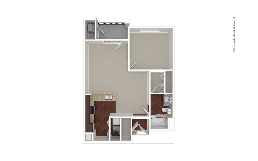 The Babson 1 bedroom 1 bath 793 square feet (1)