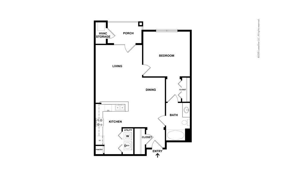The Babson 1 bedroom 1 bath 793 square feet (2)