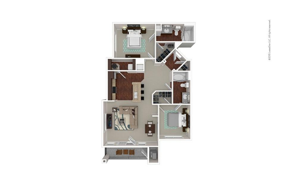 The Dartmouth 2 bedroom 2 bath 1073 square feet