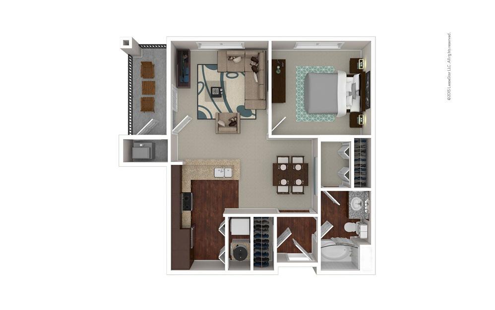 The Elon 1 bedroom 1 bath 793 square feet