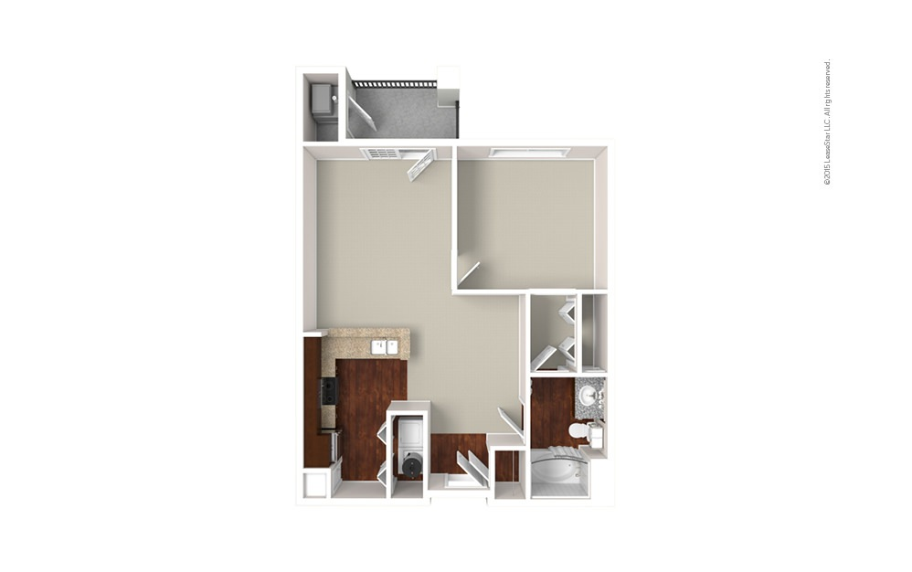The Oxford 1 bedroom 1 bath 777 square feet (1)