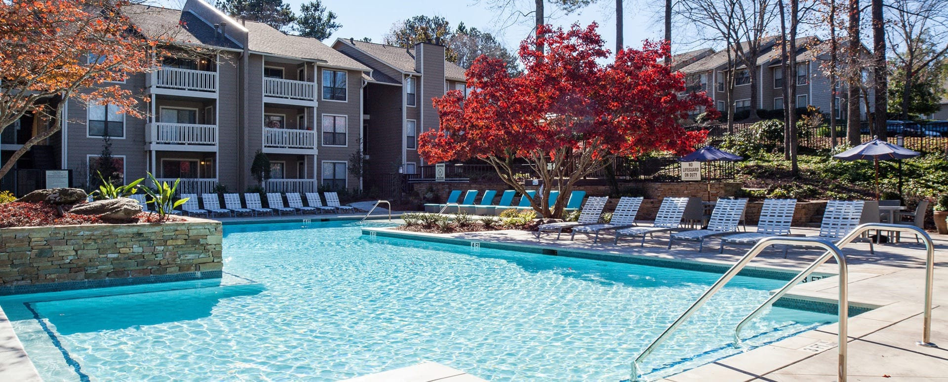 apartment pool at Cortland at the Village