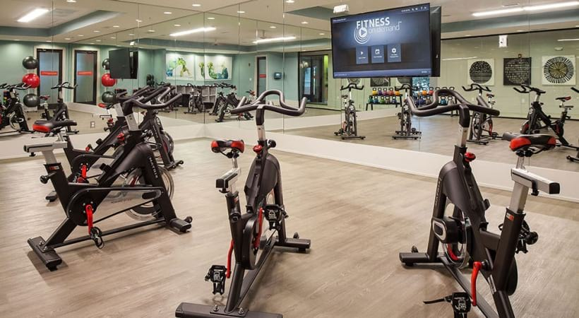 Spin studio at our Lake Park apartments