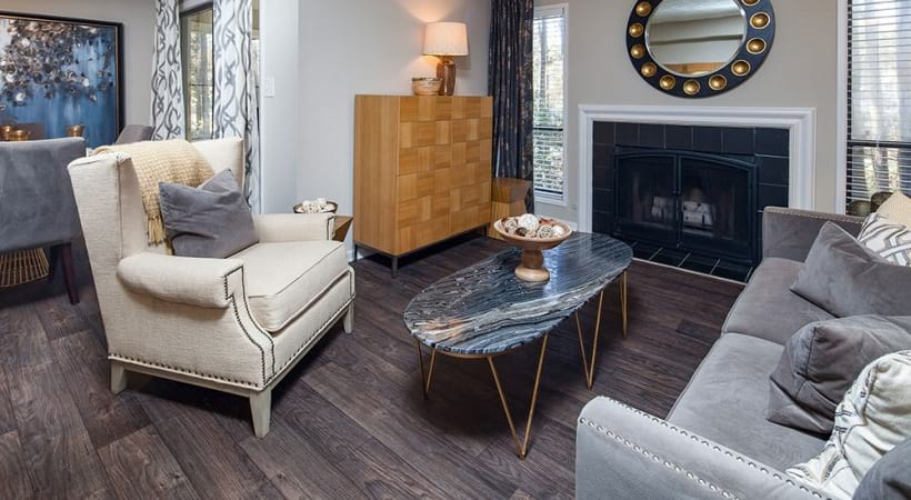 Spacious Living Room at Cortland at the Village