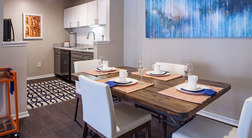 Modern Dining Area at our Lake Park Apartments