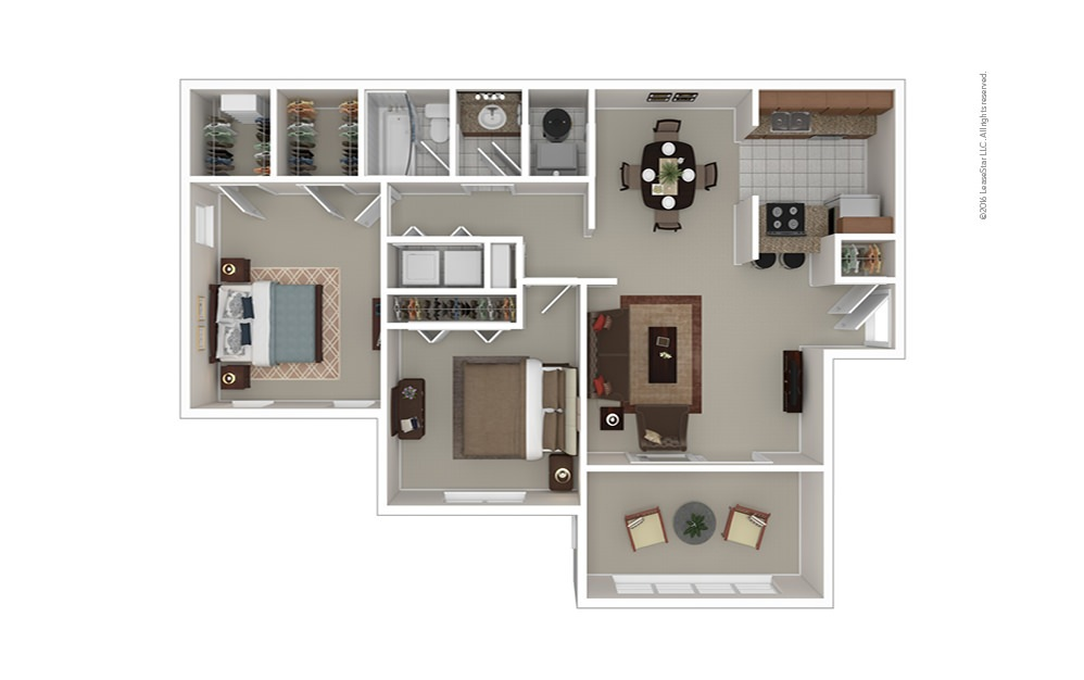 The Johnson 2 bedroom 1 bath 1100 square feet