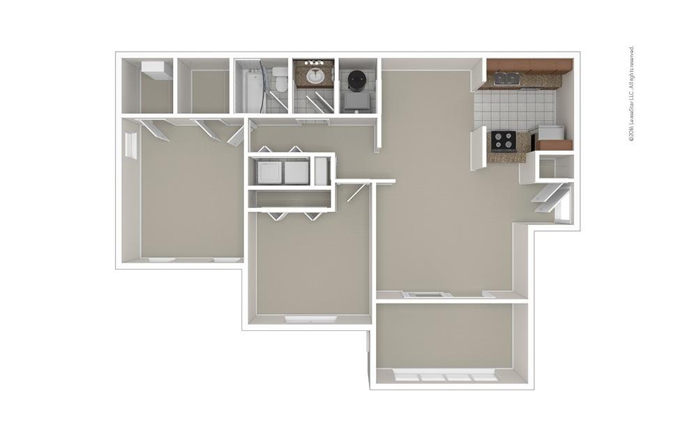 The Johnson 2 bedroom 1 bath 1100 square feet (1)