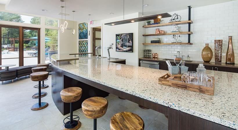 Party ready kitchen at Viridian by Cortland's resident clubhouse